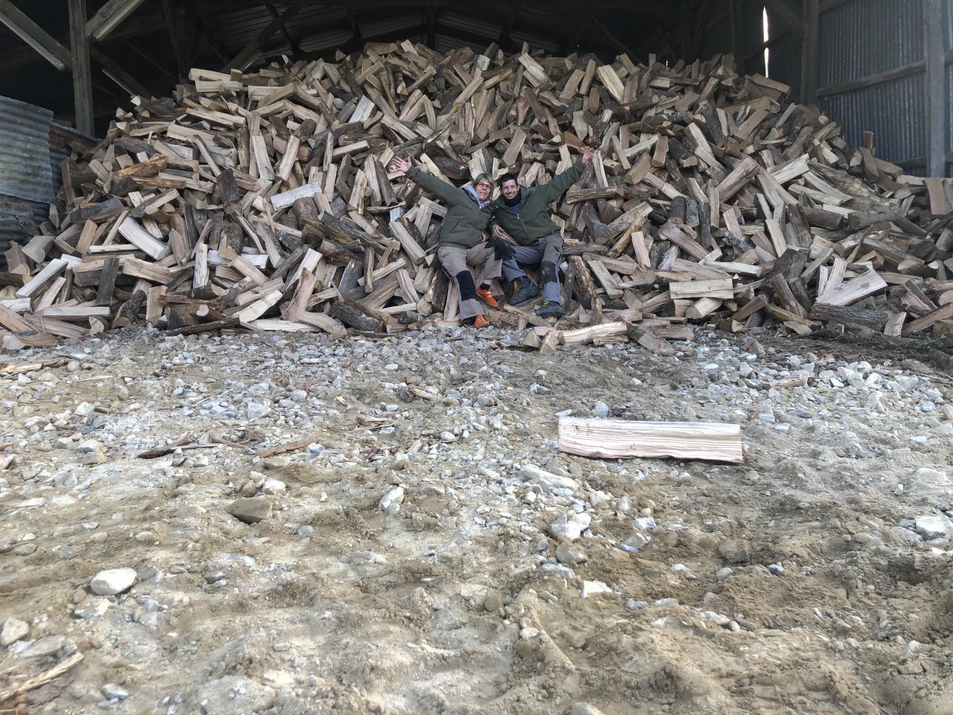 Stockage bois à l'abris